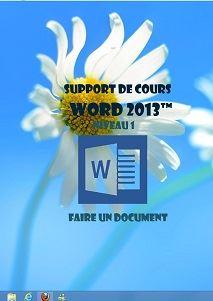 licence du cours Word 2013 utilisation