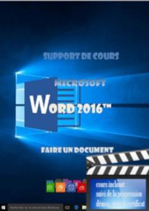 cours Word 2016 utilisation