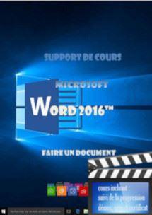 cours Word 2016 utilisation