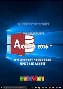 licence du cours access 2016 utilisation