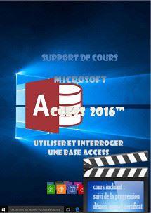 cours Access 2016 utilisation