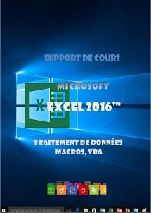 support de cours Excel 2016 traitement de donnees, si, macros