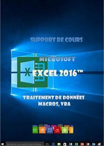 licence du cours Excel 2016, traitement de données