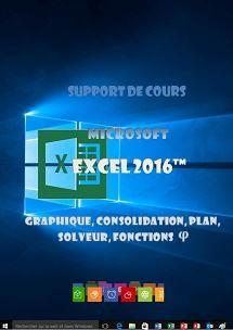 licence du cours Excel 2016, tableaux gestion, graphiques,solveur