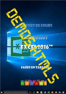 Ressources de formation Excel 2016 initiation