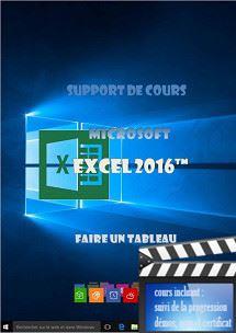 cours Excel 2016 utilisation
