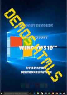 Ressources de formation Windows 10 (dix) Niveau 1