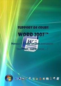 support de cours word 2007 niv2, documents longs et modeles