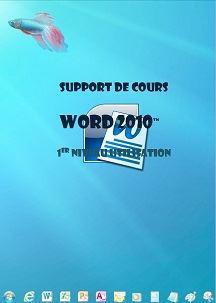licence du cours word 2010 utilisation