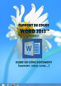 licence du cours word 2013 longs documents