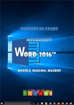 support de cours Word 2016, mailing, modele, macros